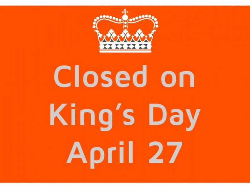 Closed on King's Day